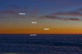 Repérez les planètes à l'œil nu endécembre
