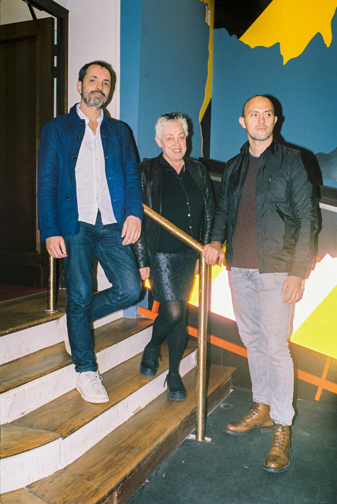 De gauche à droite, Arnaud Frisch, Ruth Mackenzie et Antoine Caton, à l'initiative du projet.
