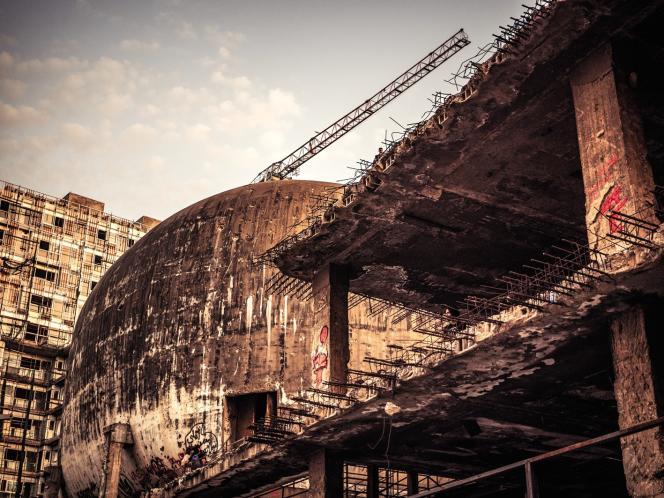 L'«Œuf» est l'un des rares vestiges de la guerre civile à ne pas avoir été rasé dans le centre-ville de Beyrouth.
