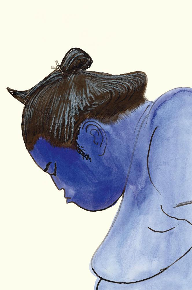 «Concentration bleue», de David Prudhomme, extrait de« Sumographie».
