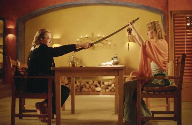 « Amis américains» : David Carradine et Uma Thurman dans «Kill Bill, Volume 2», 2004.