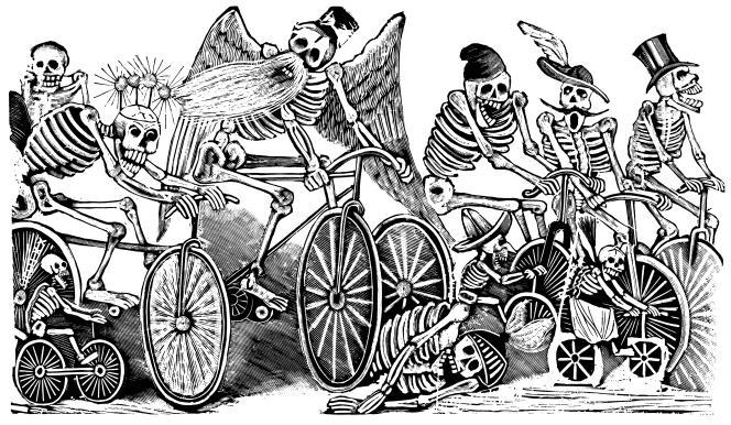 « Calavera Las Bicicletas », de José Guadalupe Posada (1930).