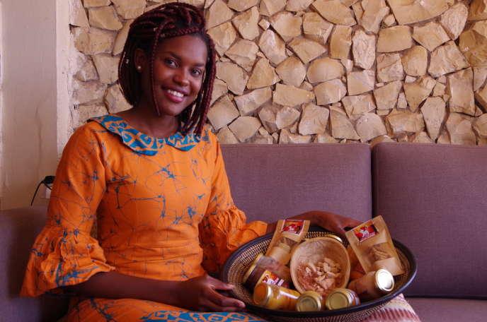 Siny Samba, créatrice de la marque sénégalaise d'aliments pour bébés Le Lionceau.