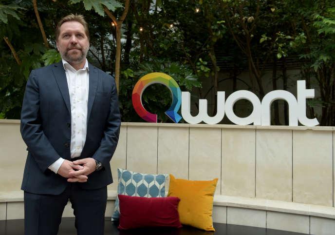 Le président-fondateur de Qwant, Eric Léandri, à Paris, en juin 2018.