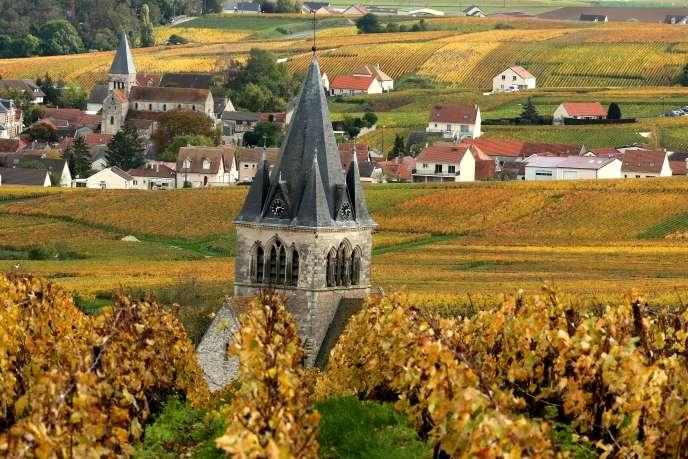 Le village de Ville-Dommange, à quelques kilomètres de Reims, le 25 novembre. a