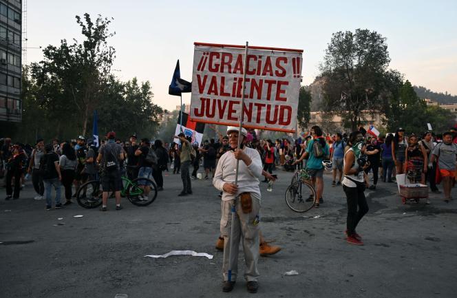 Manifestation contre le gouvernement à Santiago, le 18 novembre.