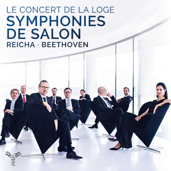 Pochette de l'album«Symphonies de salon», œuvresd'Anton Reicha et Ludwig van Beethoven, par Le Concert de La Loge.