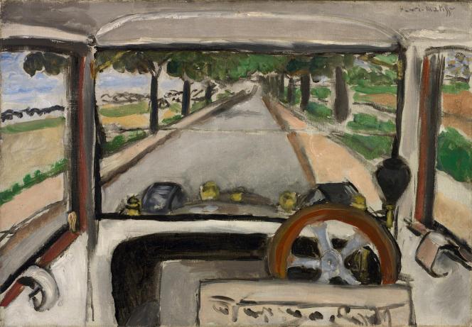 «Le pare-brise. Sur la route de Villacoublay» (1917), d'Henri Matisse.