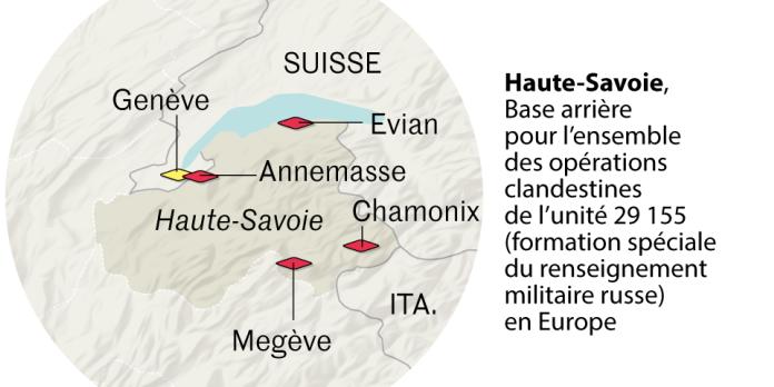 La Haute-Savoie, camp de base d'espions russes