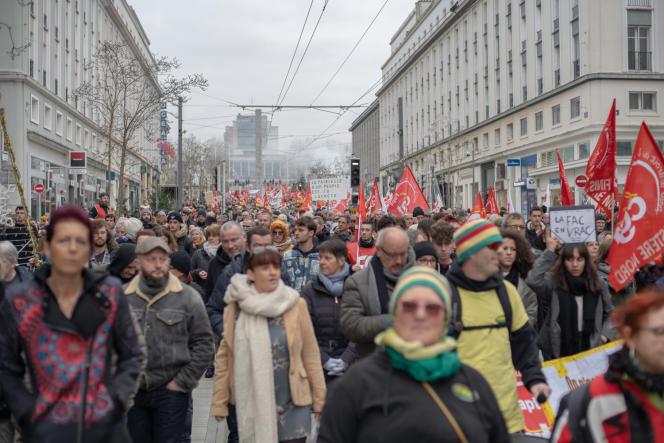 Manifestation contre la reforme des retraites à Brest, le 5 décembre