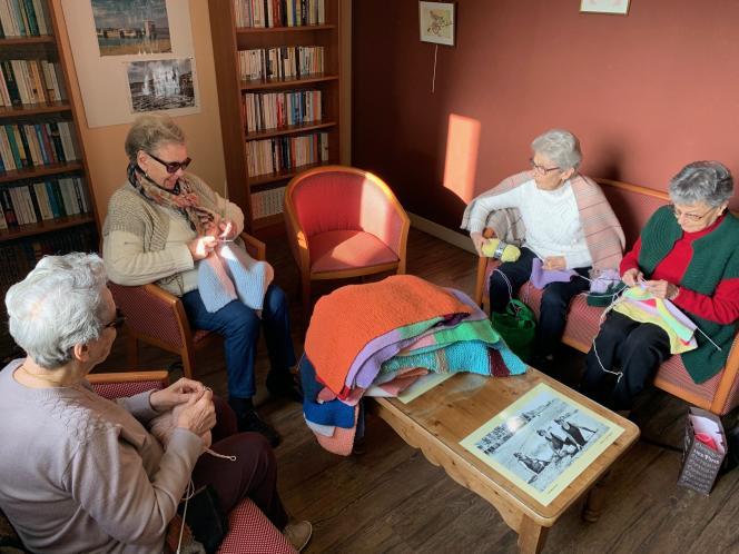 De gauche à droite : Marie-Ange, Liliane, Ginette et Paulette.