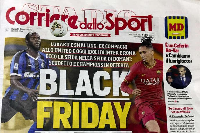 La «une» du« Corriere dello Sport», le 5 décembre.