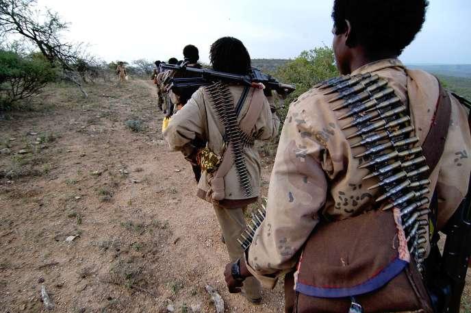 Des combattants de l'ONLF près de Djidjiga, en Ethiopie, en octobre 2006.