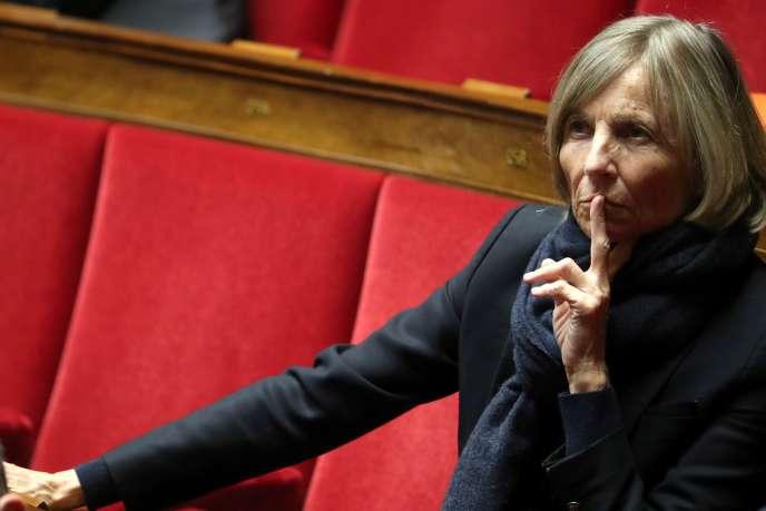 La vice-présidente du MoDem, Marielle de Sarnez, à l'Assemblée nationale à Paris, le 6 mars.