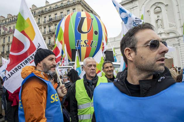 Des manifestants marseillais. Ils étaient 25200 selon la police, 150000 selon les syndicats.