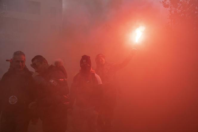 Manifestation contre les retraites, Marseille le 5 novembre 2019.