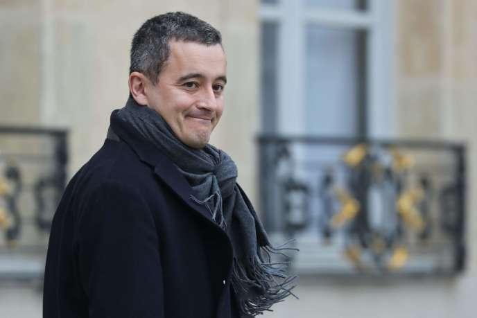 Gérald Darmanin quitte l'Elysé, le 5 décembre 2019, à Paris.