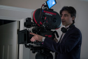 Noah Baumbach sur le tournage de son film « Marriage Story ».