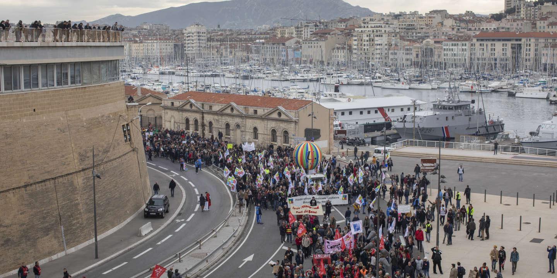 Manifestation contre les retraites, Marseille le 5 décembre 2019.