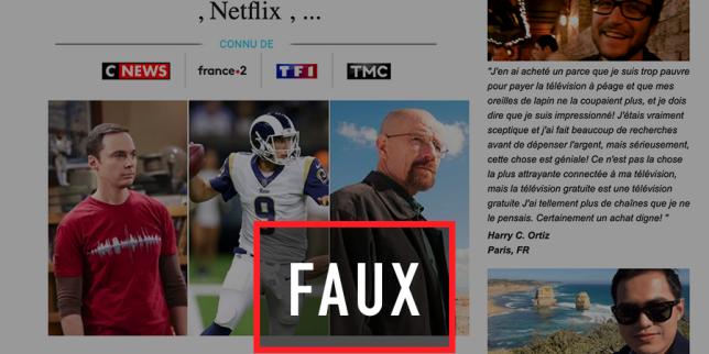 La publicité trompeuse de TV Buddy, la fausse alternative «gratuite» à Netflix ou Canal+