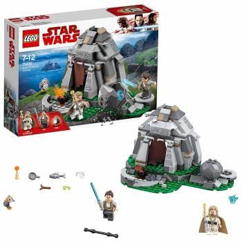 Un kit centré sur Star Wars avec quelques pièces plus difficiles Entraînement sur l'île d'Ahch-To Lego Star Wars