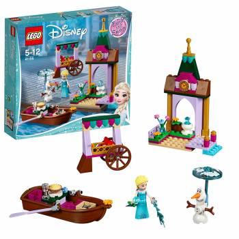 Un kit sur le thème de la Reine des neiges Les aventures d'Elsa au marché Lego Disney