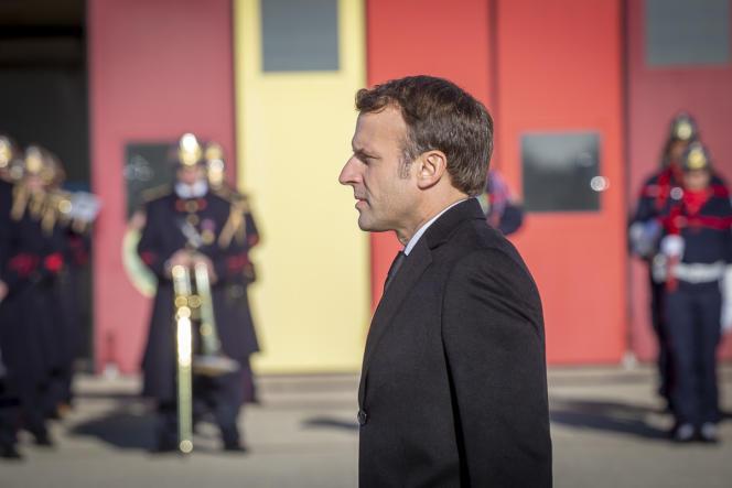Emmanuel Macron, président de la République, participe à une cérémonie le 6décembre à Nîmes.
