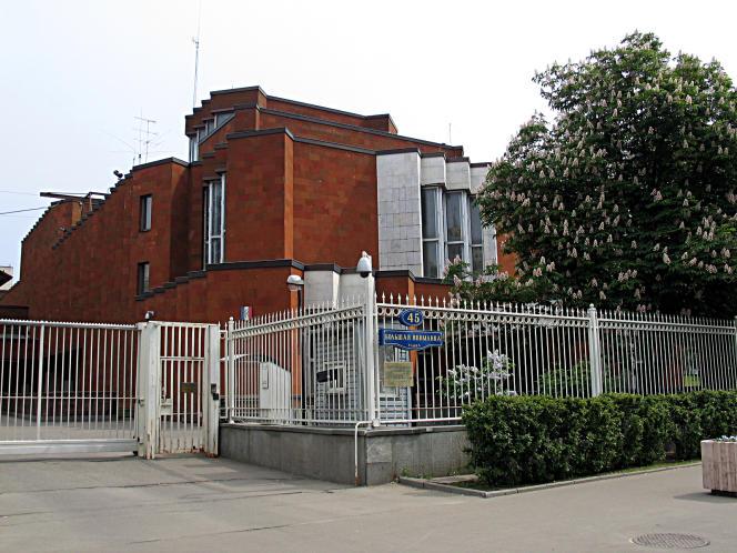 L'ambassade de France à Moscou, rue Bolshaya Yakimanka, en 2010.
