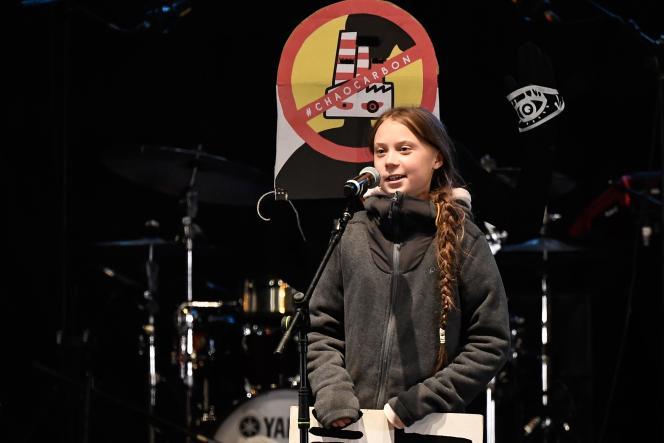 « Le changement est en marche» a déclaré la jeune militante suédoise Greta Thunberg lors de son discours, vendredi 6 décembre à Madrid.
