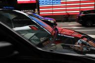 Un véhicule conduit par un chauffeur Uber à Manhattan, à New York, en juillet 2018.