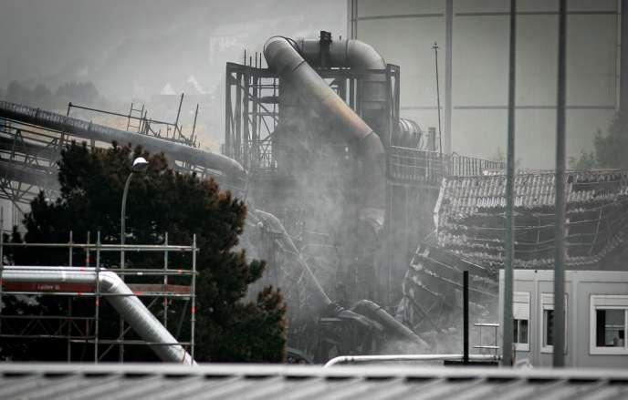 L'usine Lubrizol après l'incendie, à Rouen (Seine-Maritime), le 24 octobre.