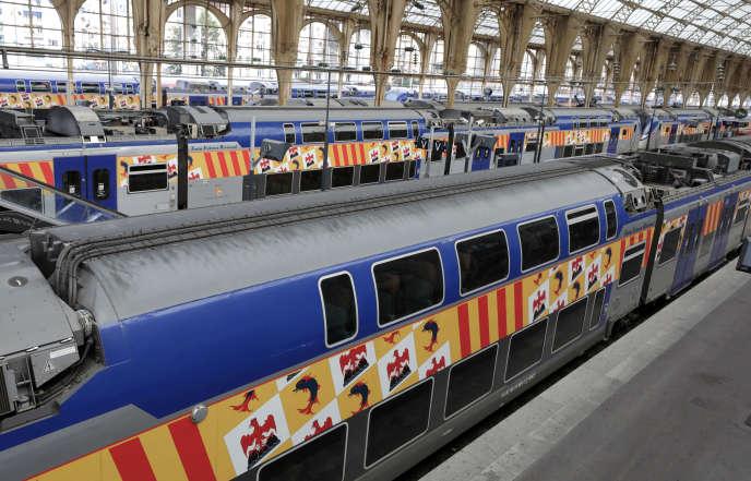 Des trains express régionaux (TER) dans la gare de Nice, le 6décembre2019.
