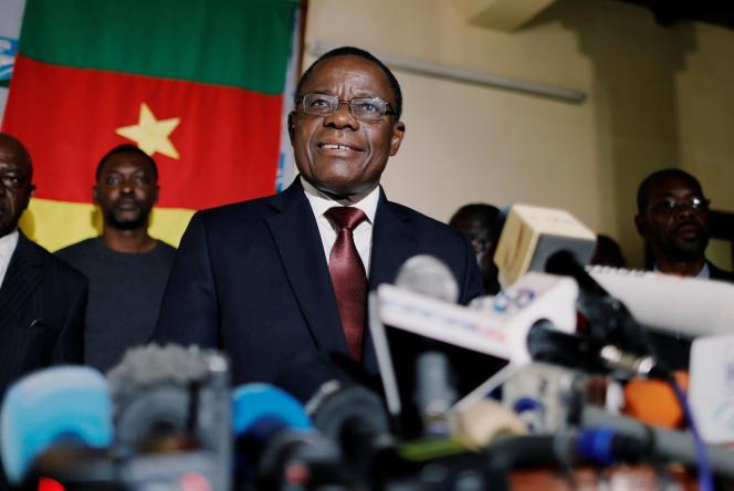 Maurice Kamto, candidat du Mouvement pour la renaissance du Cameroun (MRC) à la dernière élection présidentielle, à Yaoundé, le 8 octobre 2018.