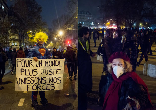 Paris. Le cortège remonte le boulevard Voltaire en direction de la place de la Nation.