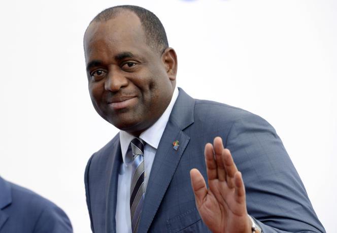 Le premier ministre dominiquaisRoosevelt Skerrit, sur une photo d'archives de 2015, à Bruxelles.