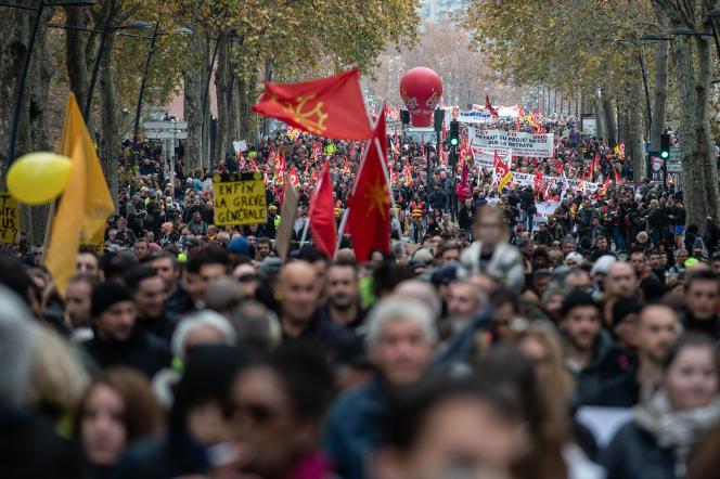 Manifestation du jeudi 5 décembre, à Toulouse.