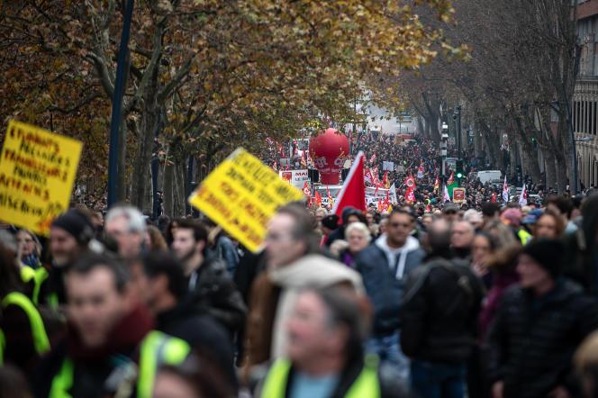 Le jeudi 5 décembre 2019, avenue Paul-Séjourné, à Toulouse.