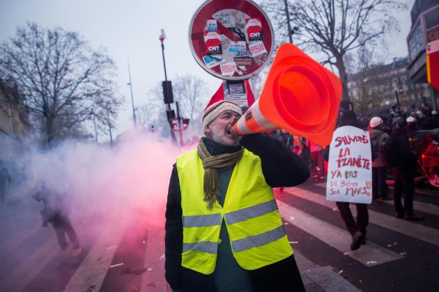 Manifestation contre le projet de réforme des retraites, à Paris.