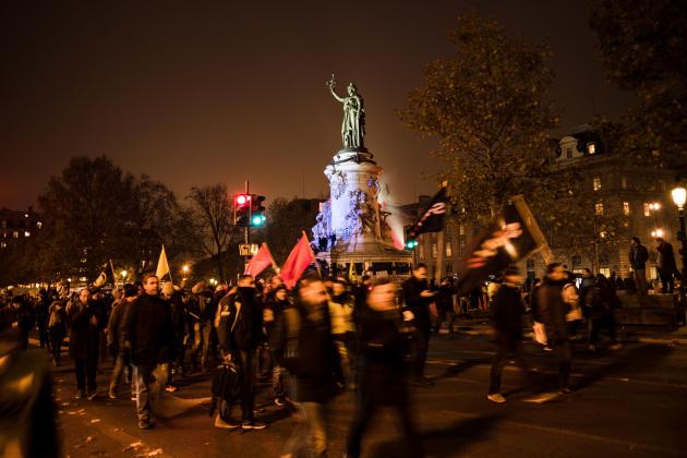 Place de la République, à Paris.