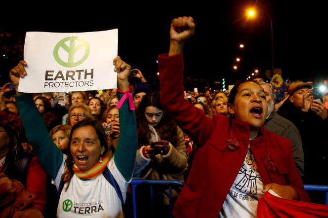 Mobilisation de jeunes militants pour le climat, le 6 décembre 2019, en marge de la COP25, à Madrid.