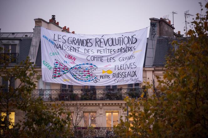 Paris, France, le 5 Décembre 2019 : Manifestation contre le projet de reforme des retraites : place de la république.