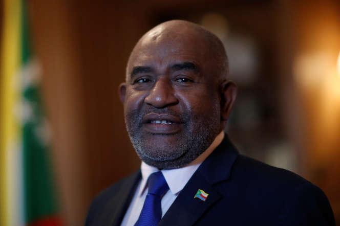 Le président comorien Azali Assoumani à Paris, le 1er décembre 2019.
