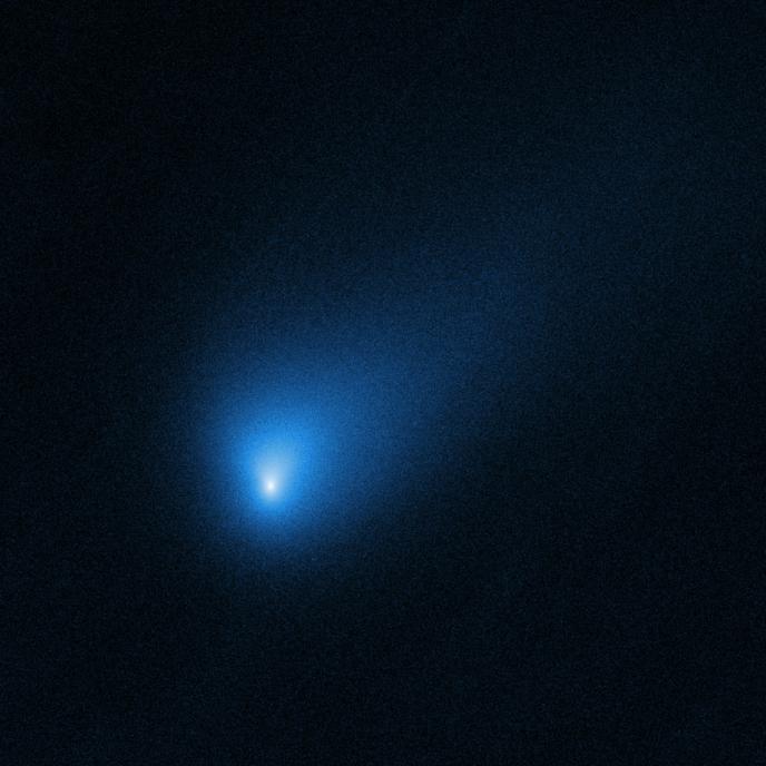La comète Borissov photographiée par le télescope spatial Hubble.