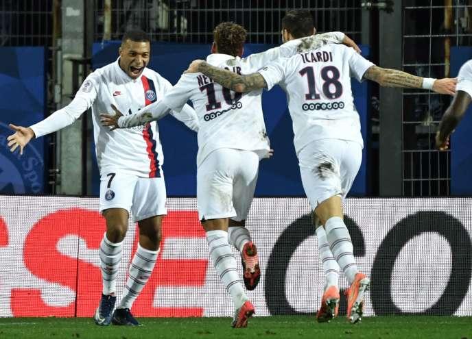 Les trois buteurs du PSG face à Montpellier.