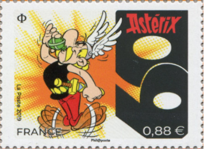 « 60 ans d'Astérix». Création Uderzo. Mise en page: Marion Favreau. Parution le 6 septembre 2019 (Astérix-Obelix-Idéfix/Les Editions Albert René/Goscinny-Uderzo).