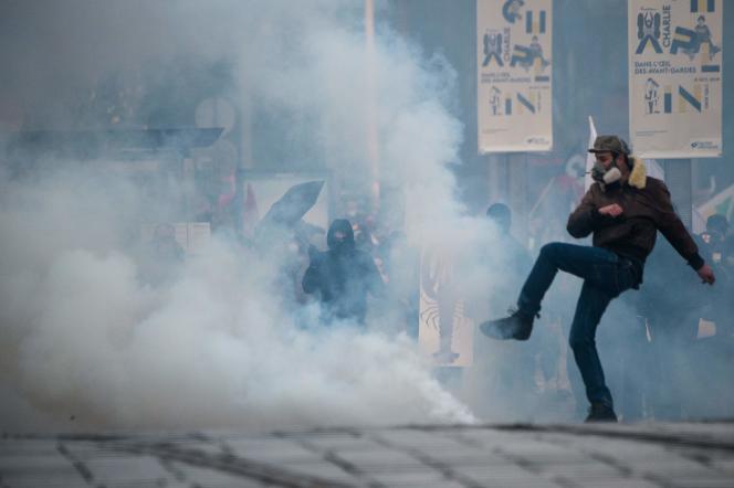Plusieurs personnes ont été interpellées à Nantes samedi lors de la manifestation contre la réforme des retraites.