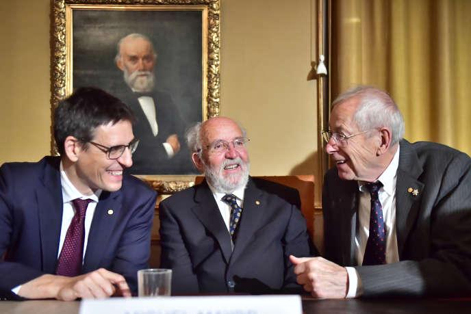 Didier Queloz, Michel Mayor et James Peebles les trois récipiendaires du prix Nobel de physique 2019
