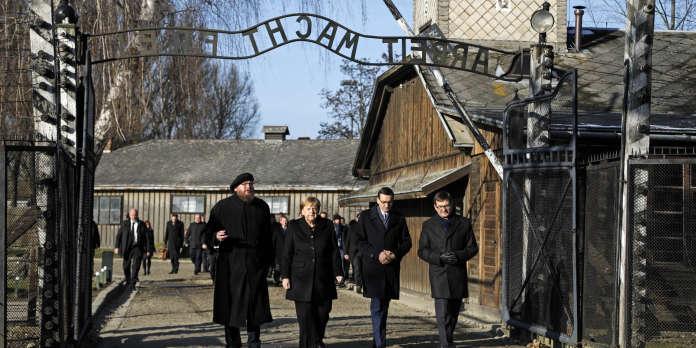 A Auschwitz pour la première fois, Merkel envoie un signal face à la montée de l'antisémitisme