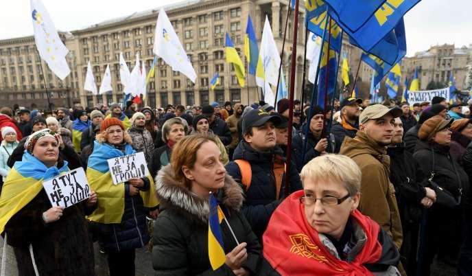 Trình diễn hỗ trợ cho Tổng thống Volodymyr Zelensky, Kiev, ngày 8 tháng 12 năm 2019.