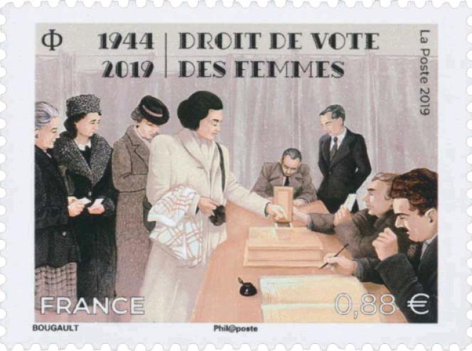 «1944-2019. Droit de vote des femmes», création de Sarah Bougault.